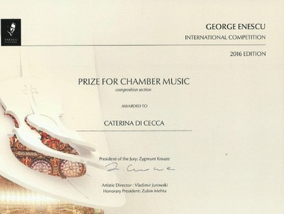 Copy of the Enescu Prize for Chamber Music